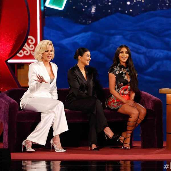 Kim Kardashian, Khloe Kardashian, Kourtney Kardashian, Jimmy Kimmel Live