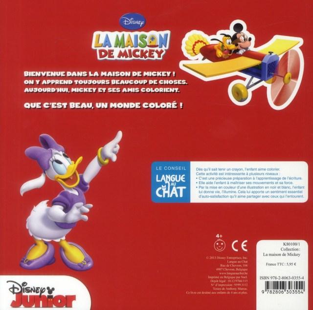 La maison de Mickey ; coloriage - Disney - Langue Au Chat