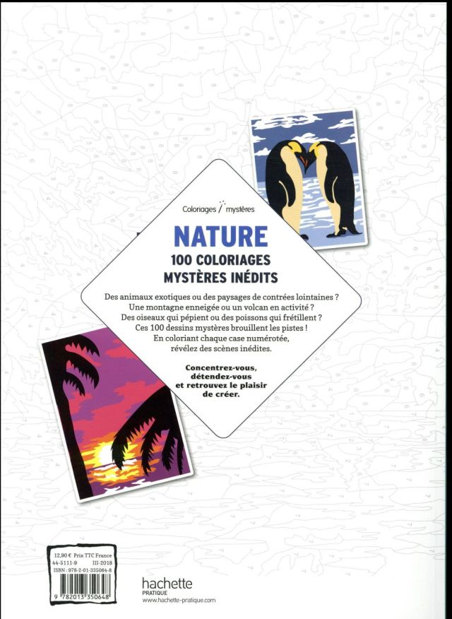 Coloriages mystères nature - Alexandre Karam - Hachette Pratique