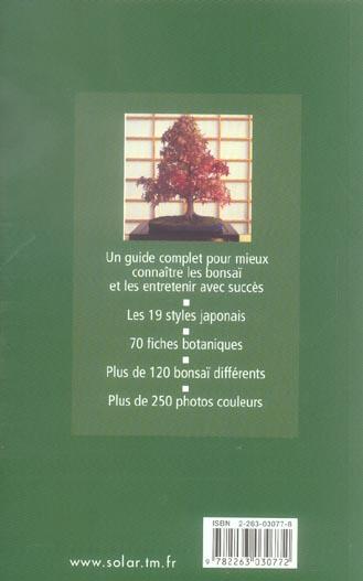 guide vert les bonsai gianfranco giorgi solar grand format librairies autrement