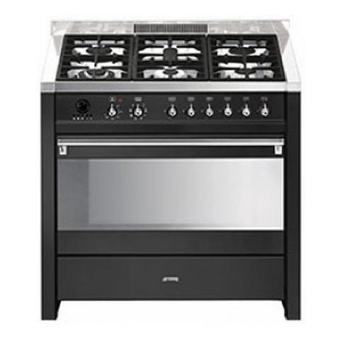 Smeg Cucina Elettrica Cs19a 78 6 Fuochi A Gas Forno Elettrico Multifunzione Classe B Dimensioni 90 X 60 Cm Colore Antracite Serie Opera