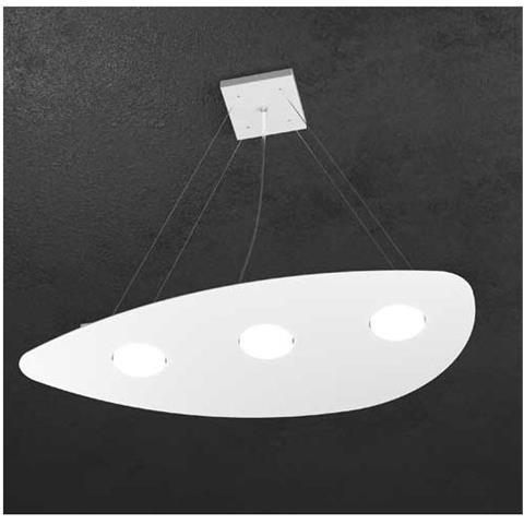 Top Light Sospensione Moderna Led Lampadario Per Camere Da Letto Bianco L 60x38 Cm H Min 50cm Max 100cm