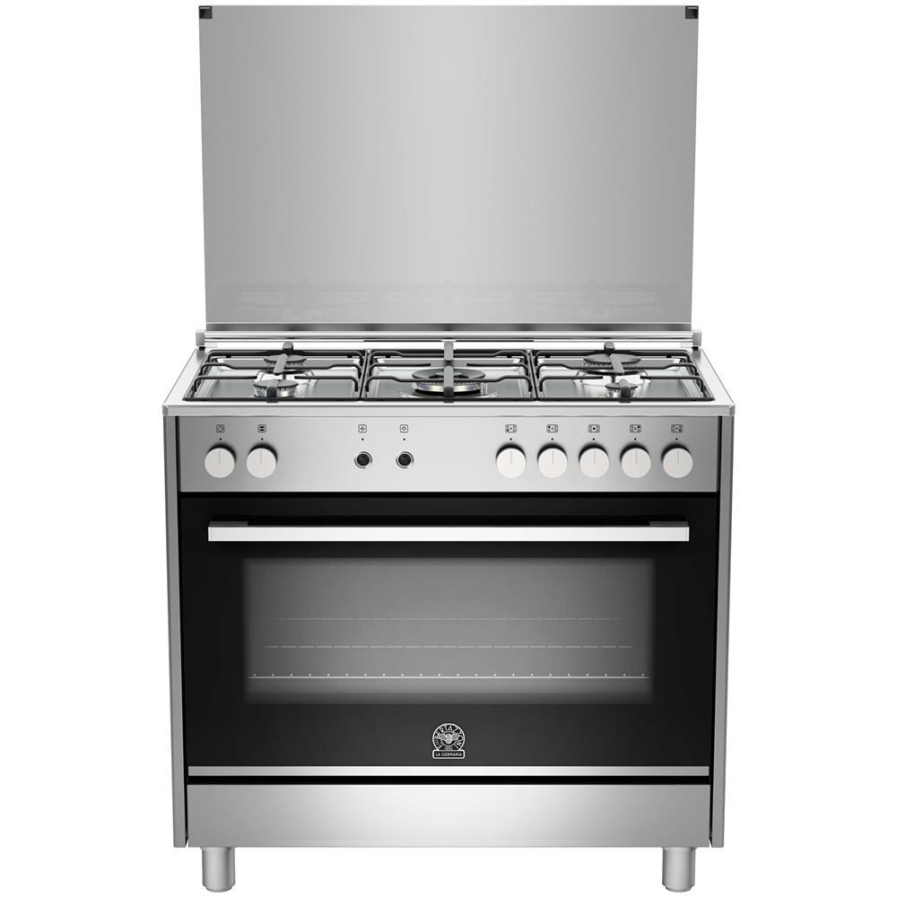 La Germania Cucina A Gas Ftr905gevsxe Serie Futura 5 Fuochi A Gas Forno A Gas Ventilato Dimensioni 90 X 60 Cm Colore Inox