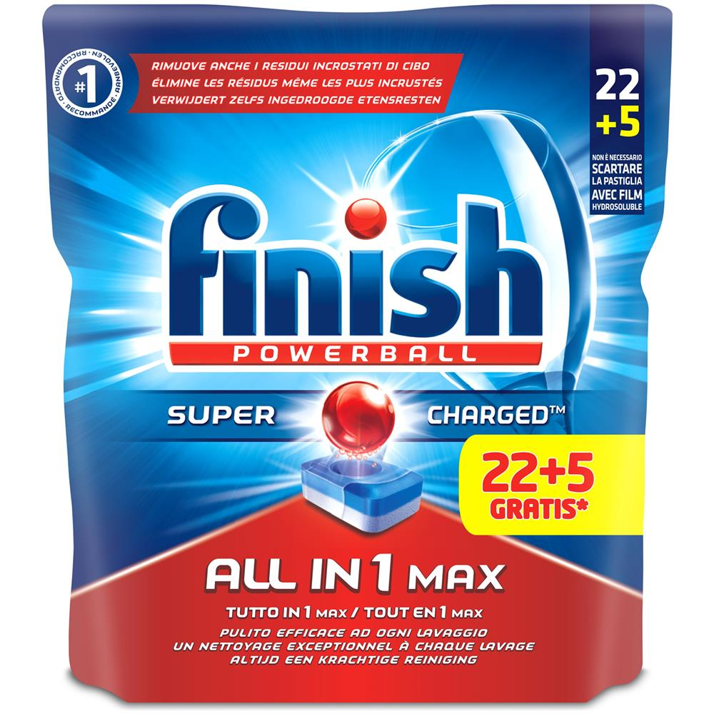 Finish Tutto In Uno Max 225 Regular Detersivi Lavastoviglie
