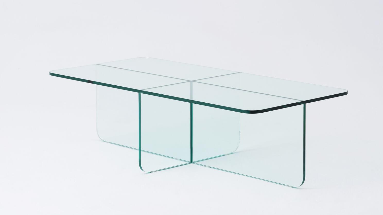 verre rectangular coffee table