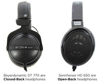 Closed-back vs. open back-headphones