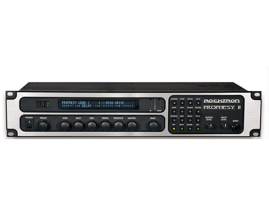 rocktron prophesy ii 4 channel rackmount guitar preamp and effects processor