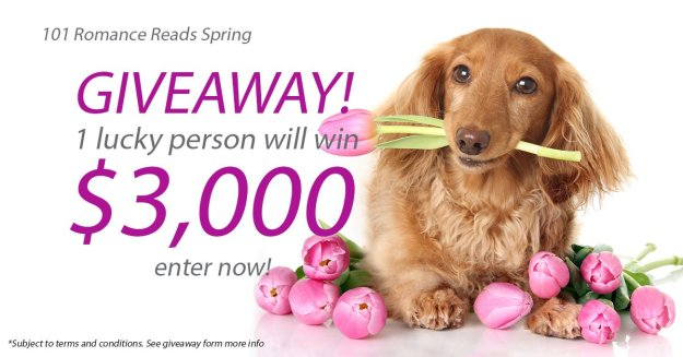 Big Romance Author $3,000 Sping Giveaway April 1-30th, 2016.