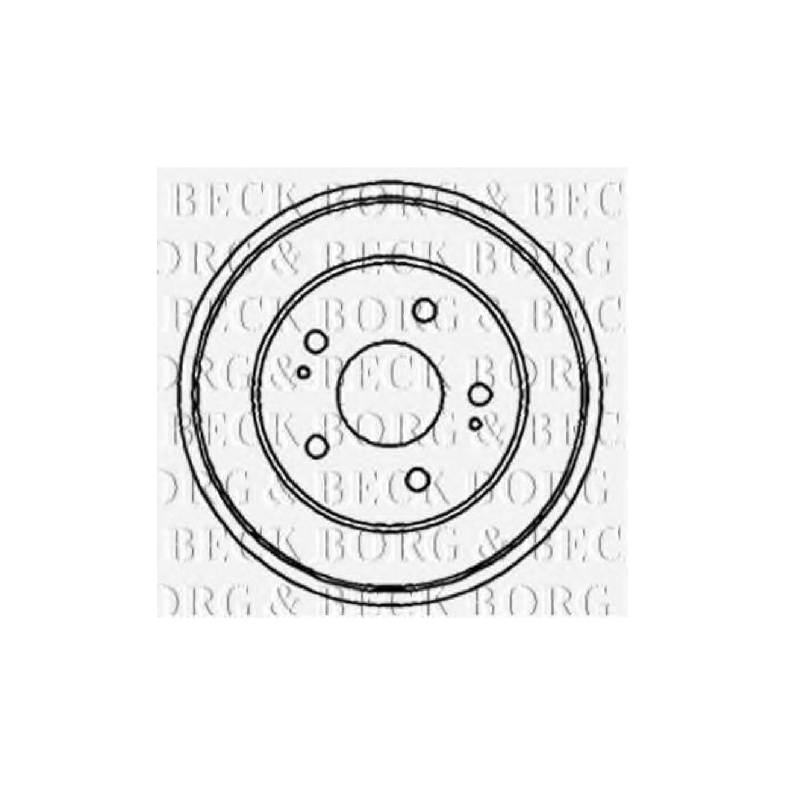 Borg Amp Beck Rear Brake Drum Genuine Oe Quality Replacement