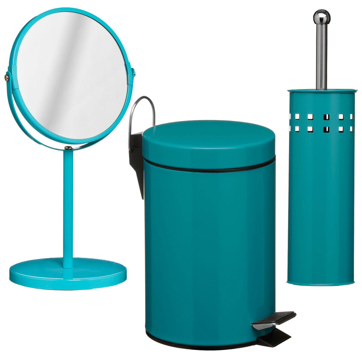 Teal Bathroom Bin