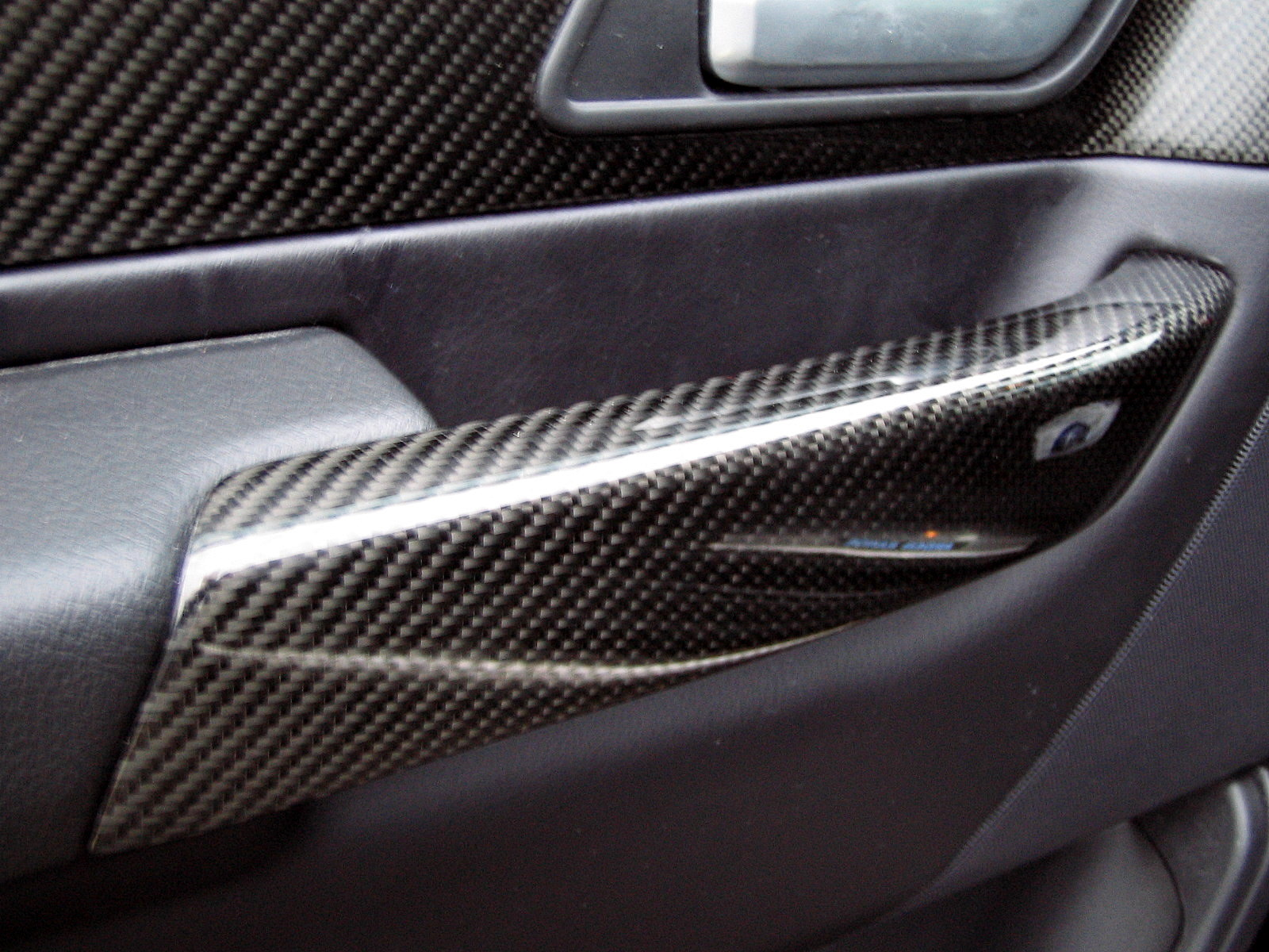 Black Carbon Fibre interior DOOR HANDLE PULL KIT for Range Rover