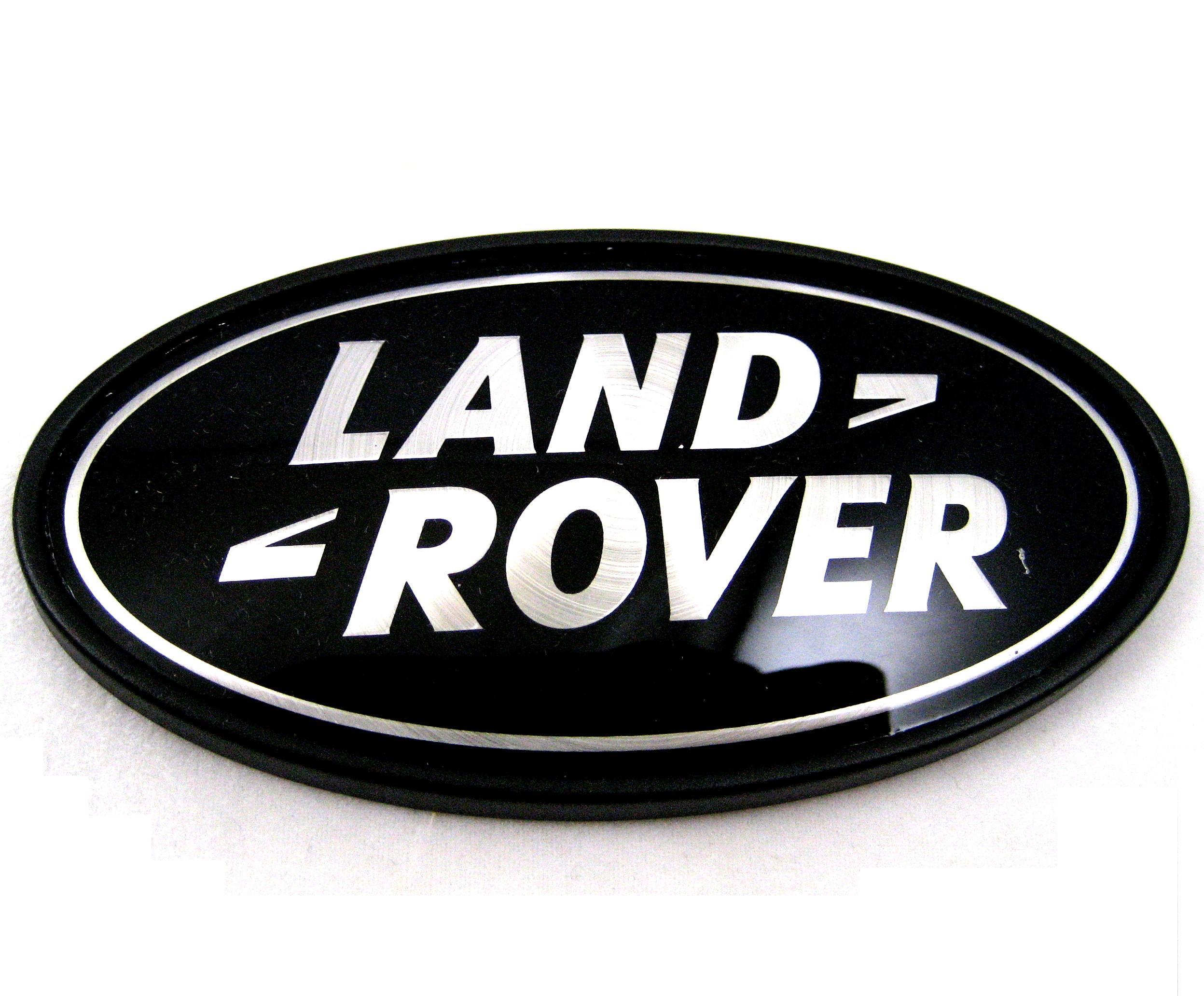 Range Rover P38 BLACK SILVER oval rear LAND ROVER badge upgrade