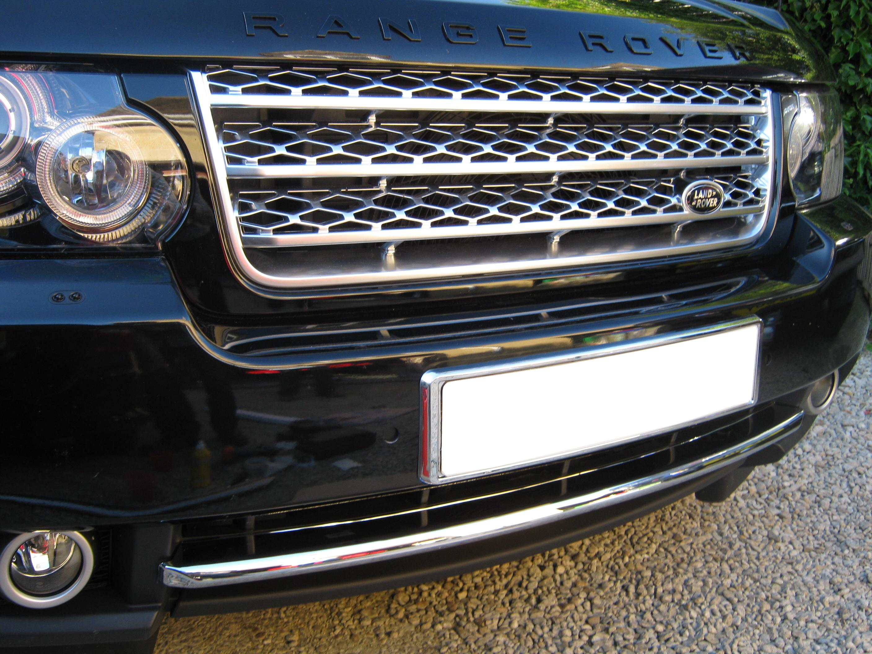Chrome front bumper trim splitter strip for Range Rover L322 Vogue