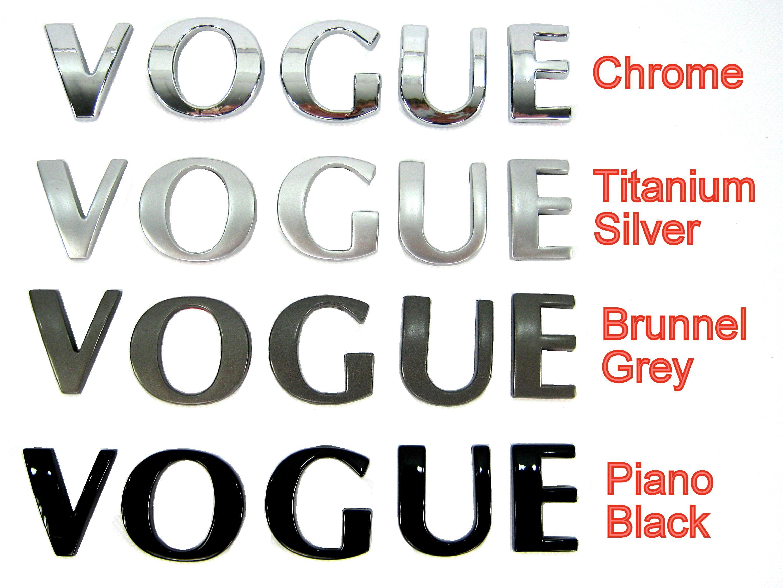"""Titanium Silver """"VOGUE SE"""" lettering Range Rover L322 rear boot"""