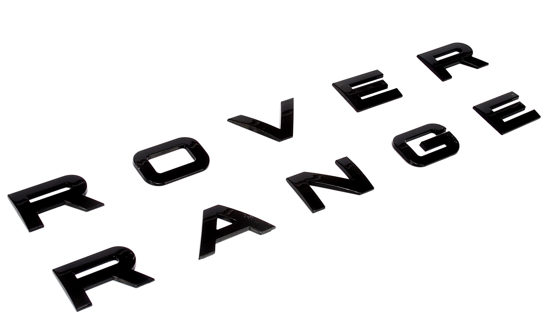 Gloss Black Piano Lettering For Range Rover Classic Bonnet