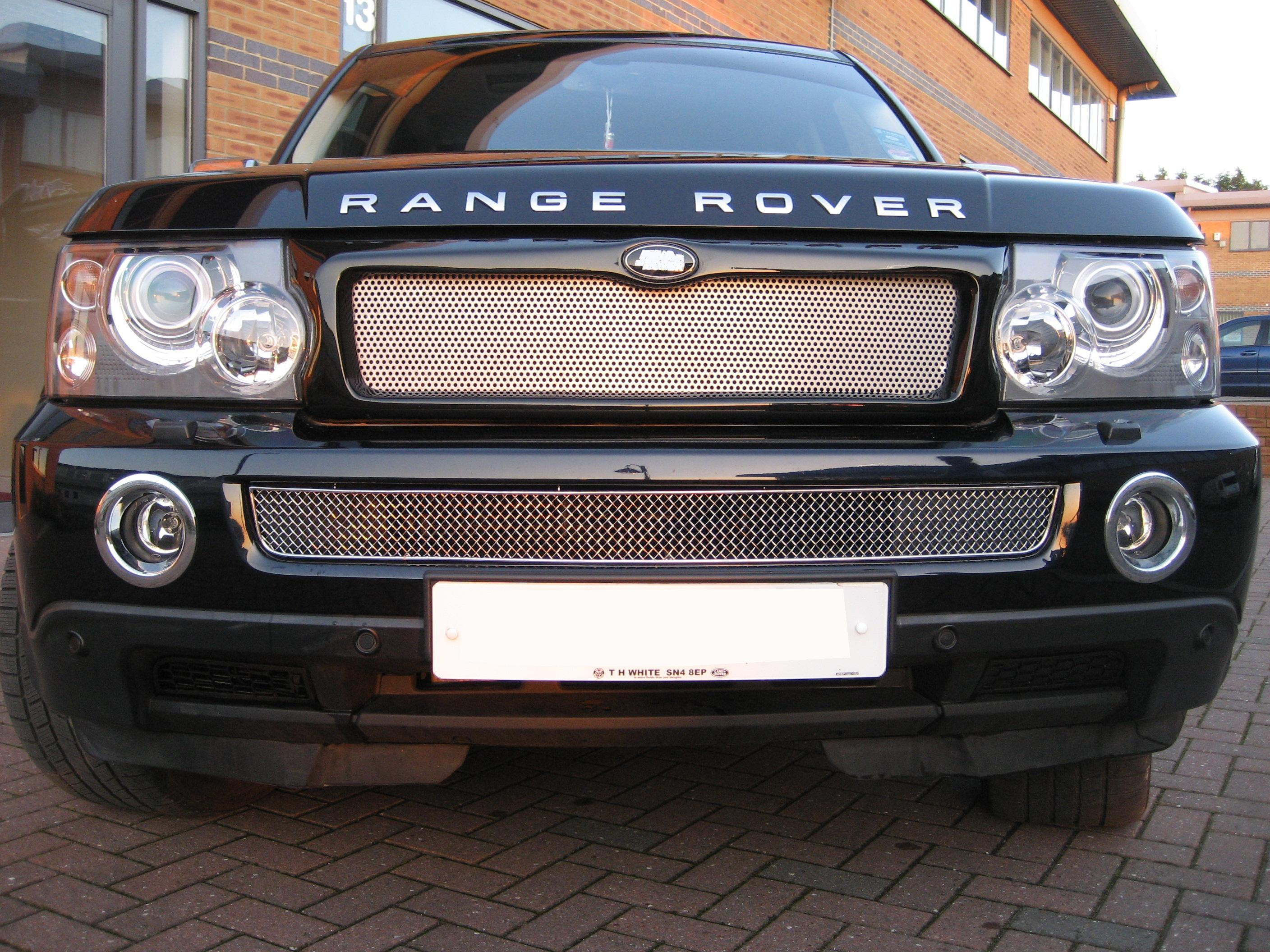 Chrome Bentley style lower MESH GRILLE for Range Rover Sport front