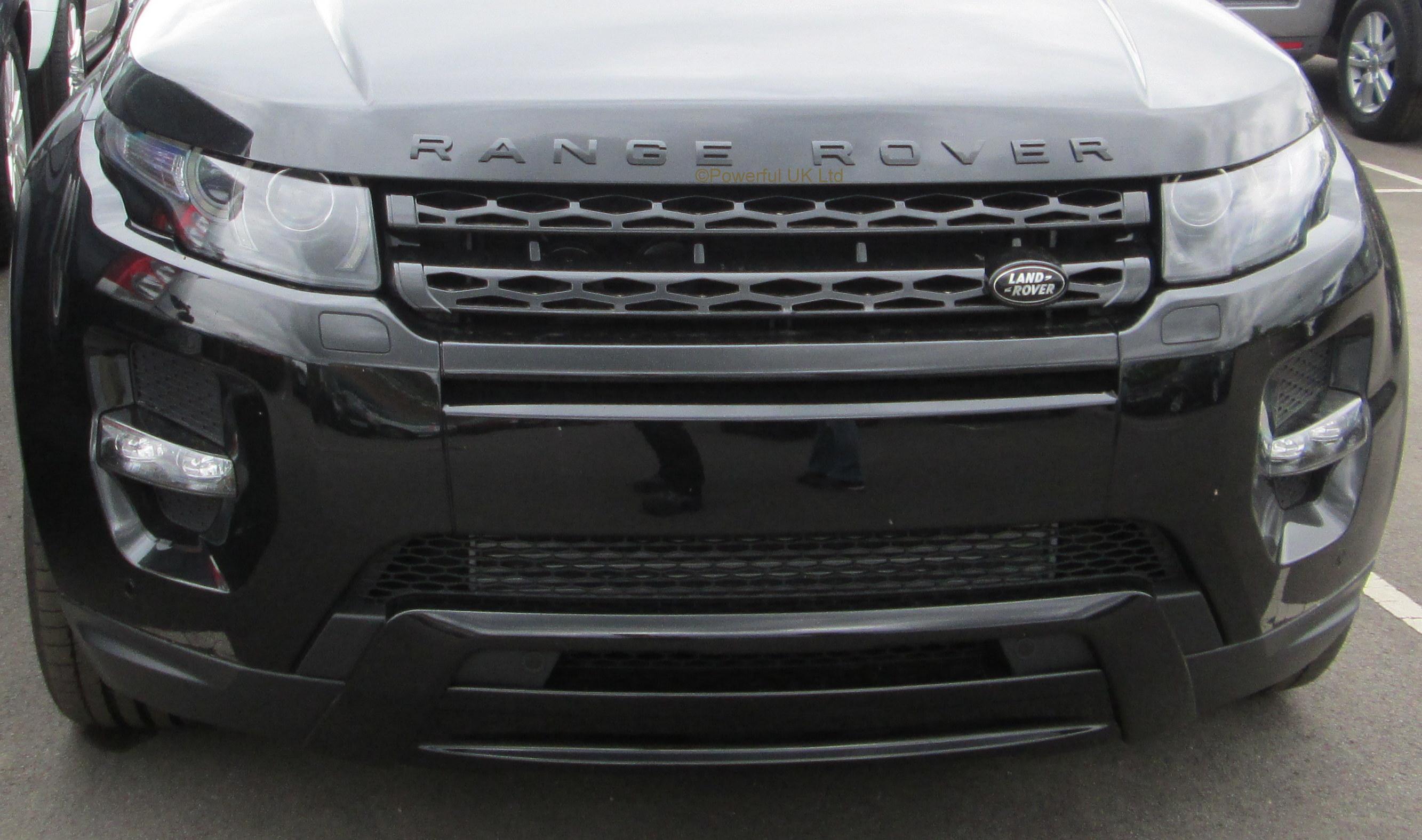 Gloss Black front grille for Range Rover Evoque Pure Prestige