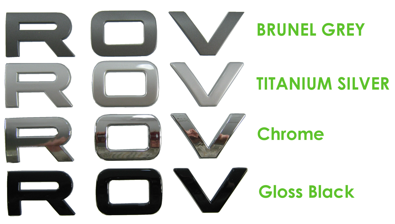 Chrome Lettering for RANGE ROVER P38 Bonnet letters badge