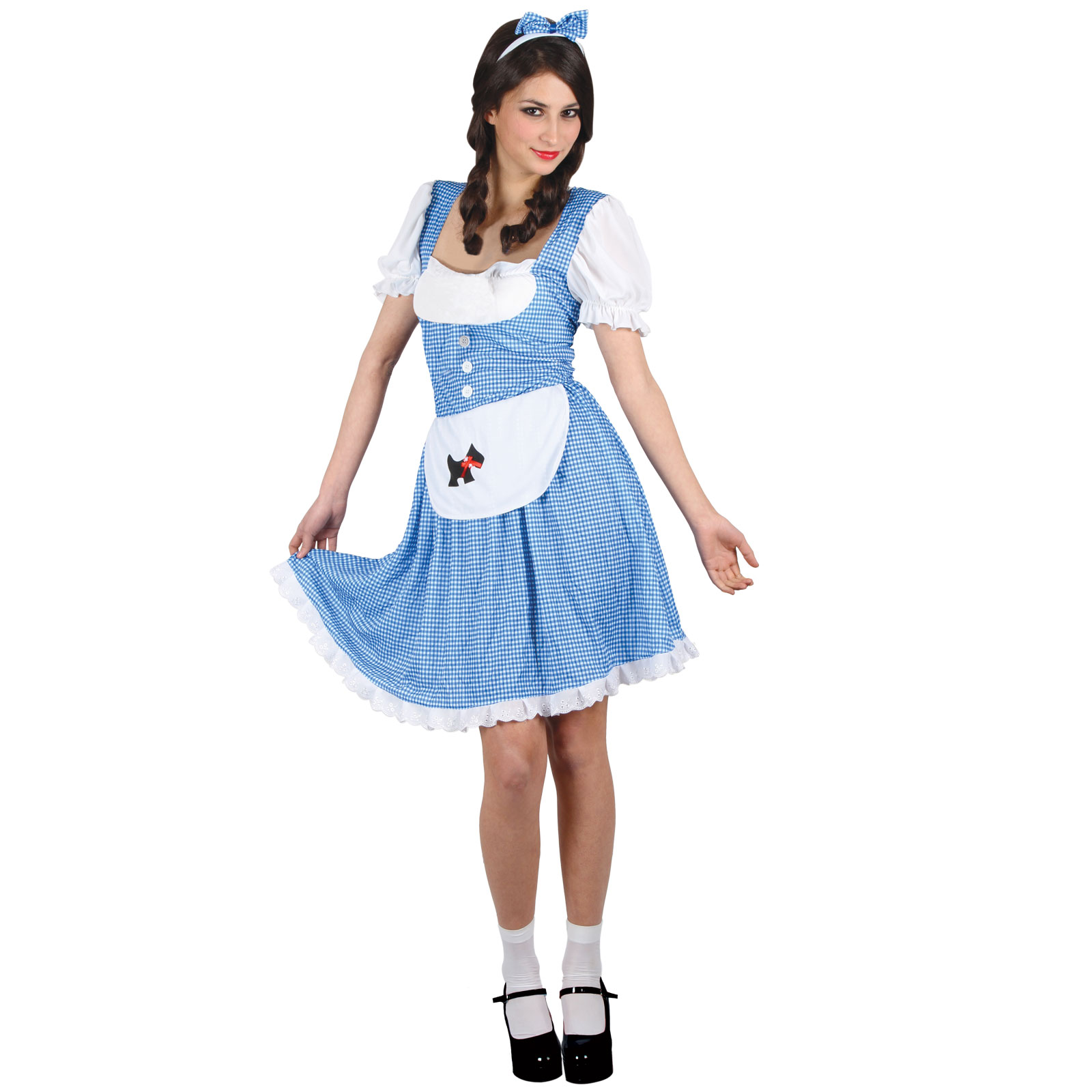 Fancy Dress Up Party Womens Blue Country Girl World Book