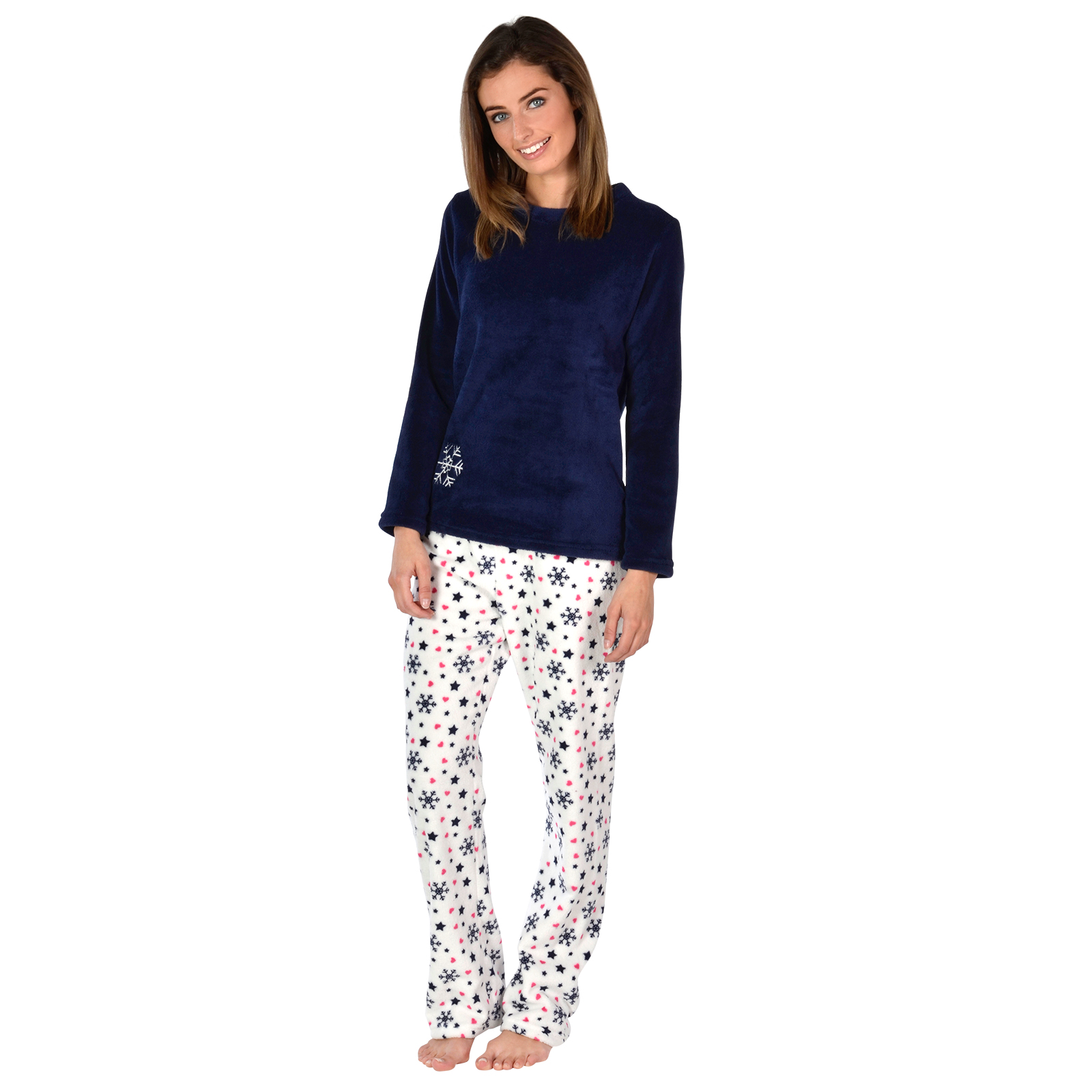 La S Fleece Pyjama Set Pjs Top Amp Bottoms Nightwear