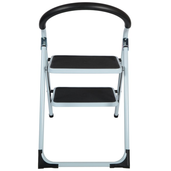 Ladders Tread Strong Steel Non Slip Folding Step Ladder Kitchen