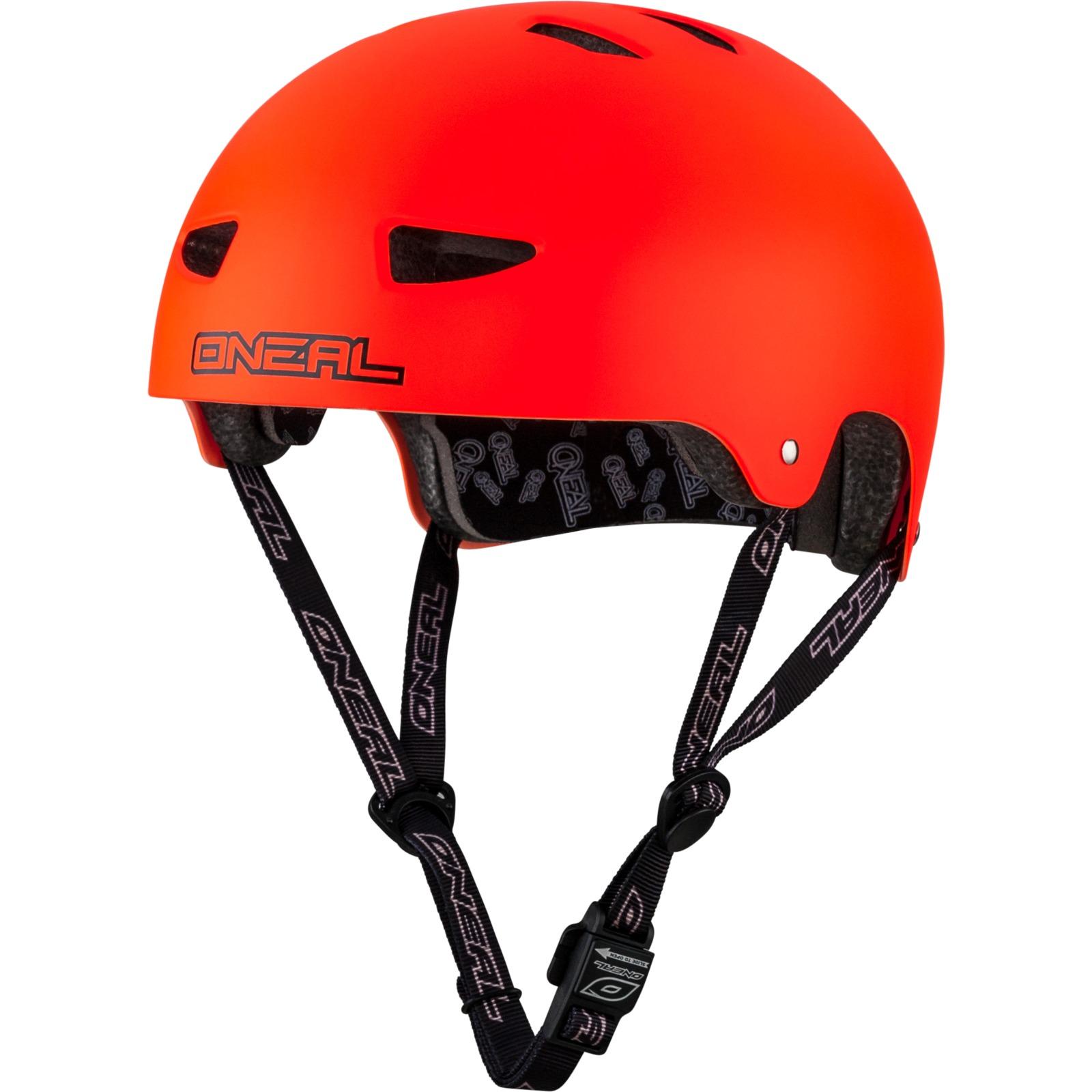 Oneal Dirt Lid Matt Neon Red Cycle Helmet Bmx Skate Adult
