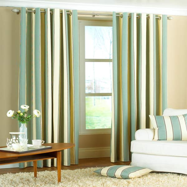 Green Stripe Eyelet Curtains Boatylicious Org