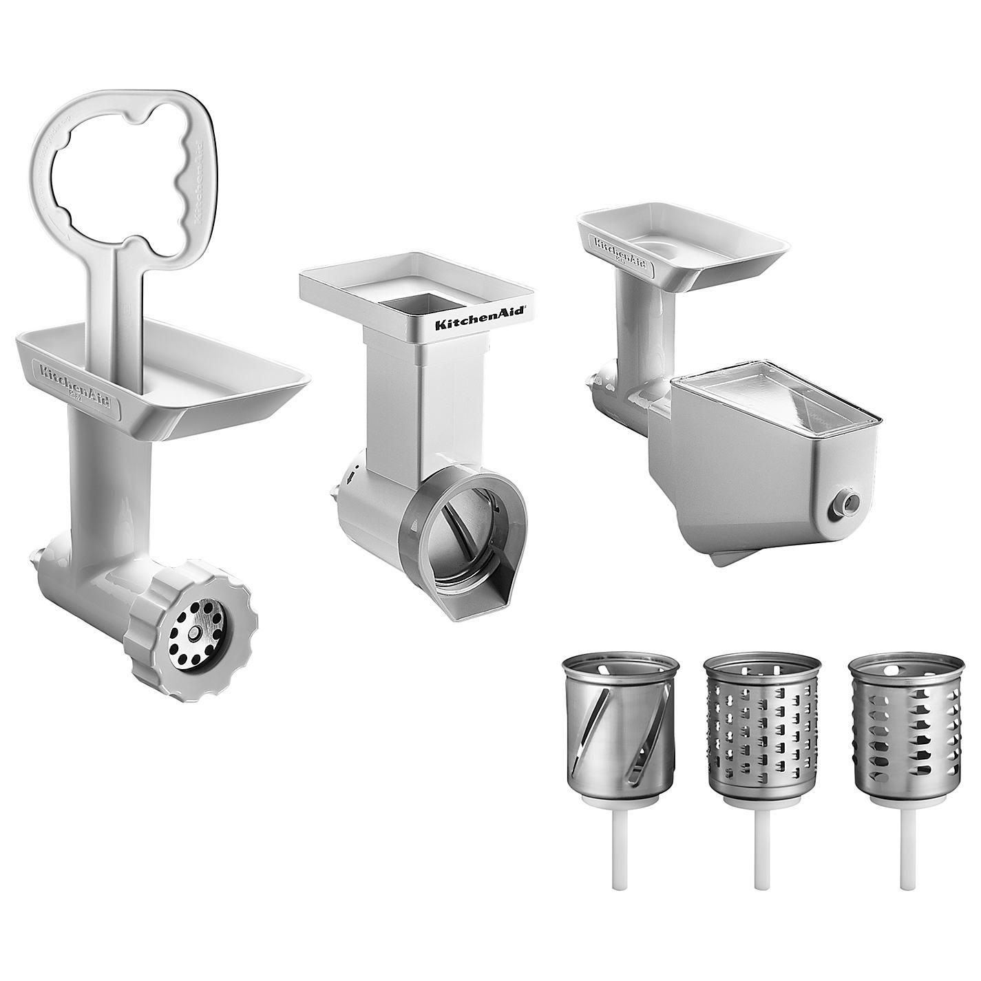 Kitchenaid Fppa Mixer Attachment Pack For Stand Mixers #22: Kitchenaid Fppc Stand Food Mixer Attachment Pack White Ebay
