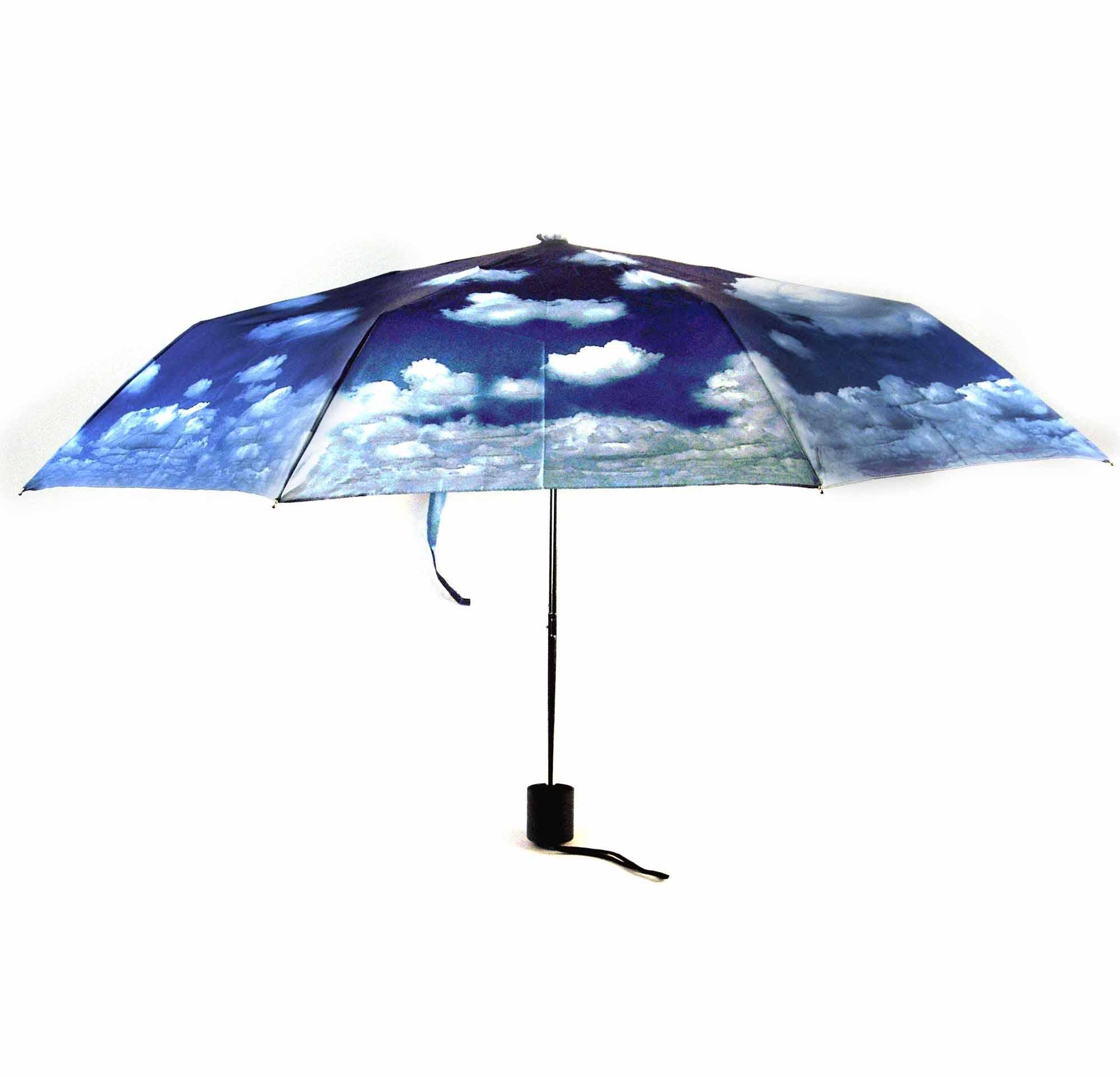 Blue Sky Foldaway Pop Up Compact Umbrella Pink Cat Shop