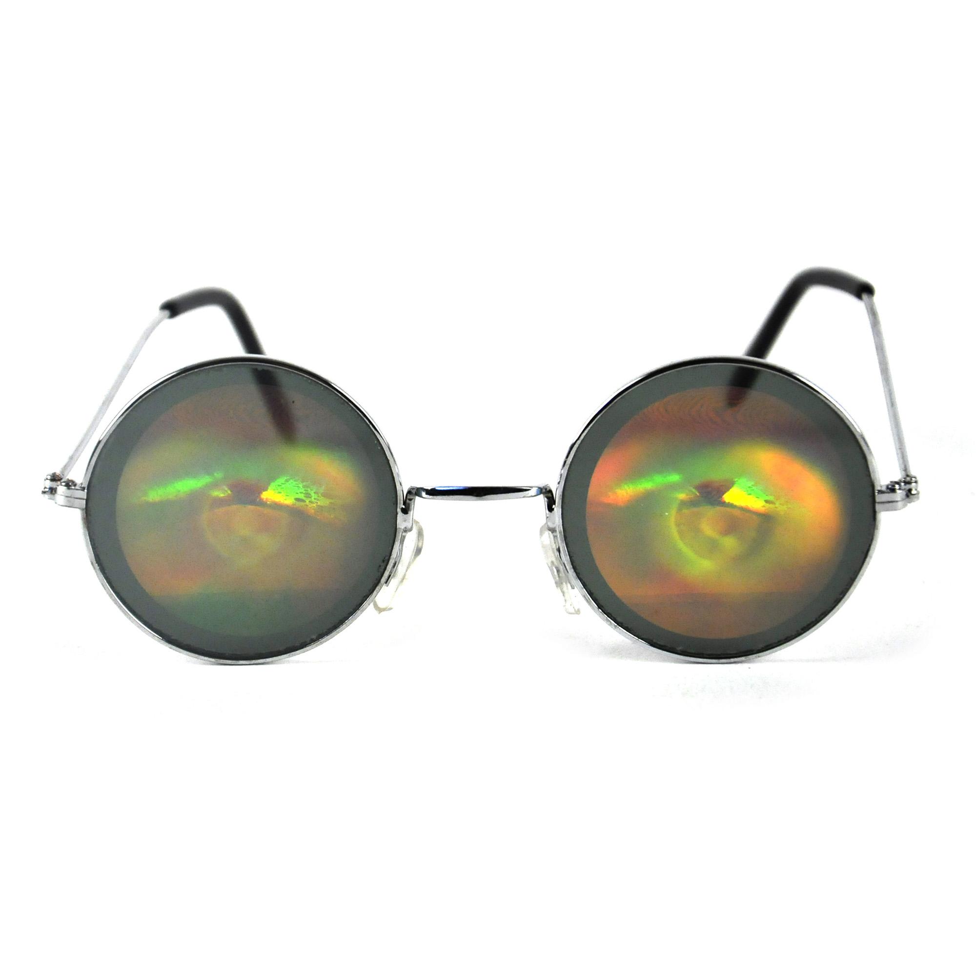 Hologram Eyeballs Glasses Pink Cat Shop