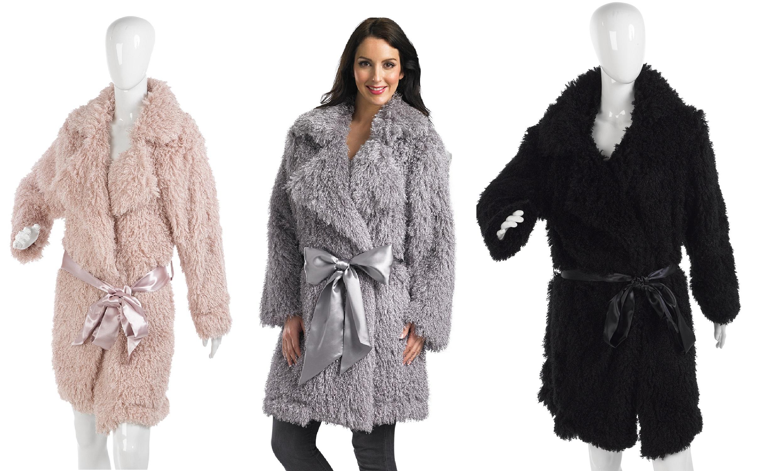 Ladies Luxury Fluffy Dressing Gown Slenderella Womens