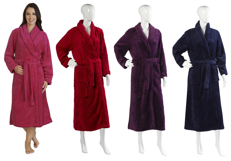 Ladies Luxury Slenderella Dressing Gown Extra Long Fleece