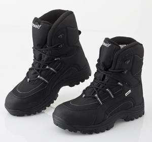 Mill Outlets Woolf Black Winter Snow Boots