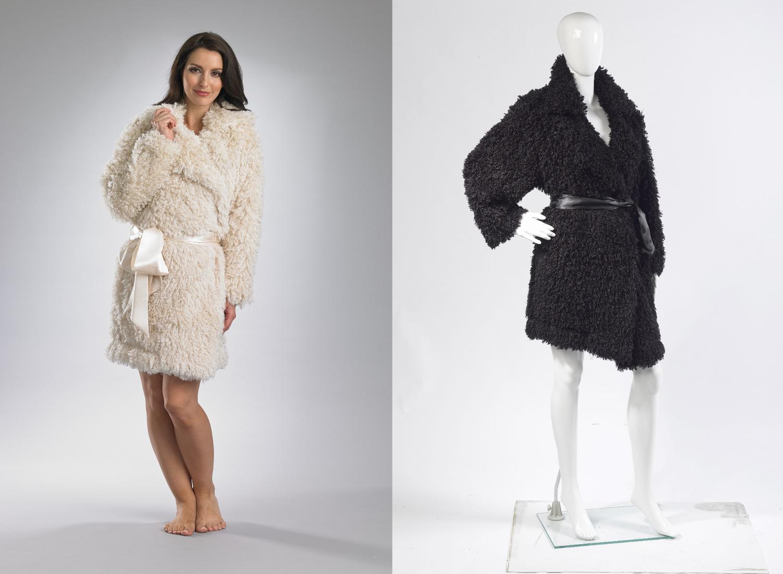 Slenderella Fluffy Polar Fleece Dressing Gown Ladies Soft