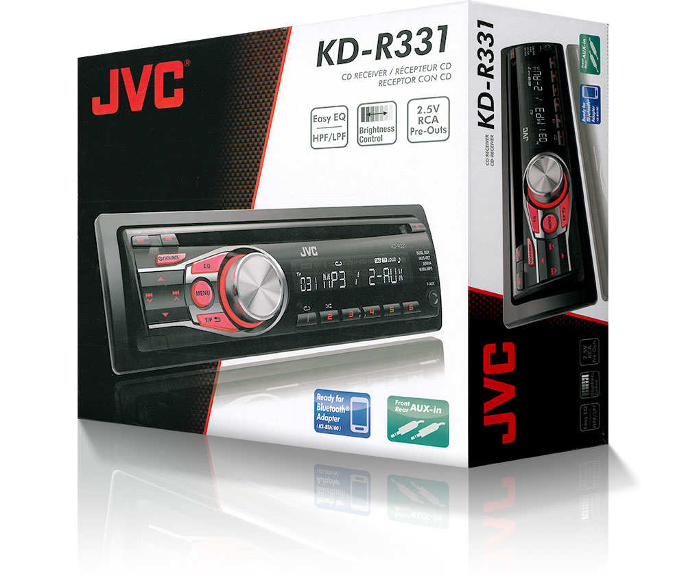 Jvc Kd R331 In Car Vehicle Radio Cd Player Music Audio