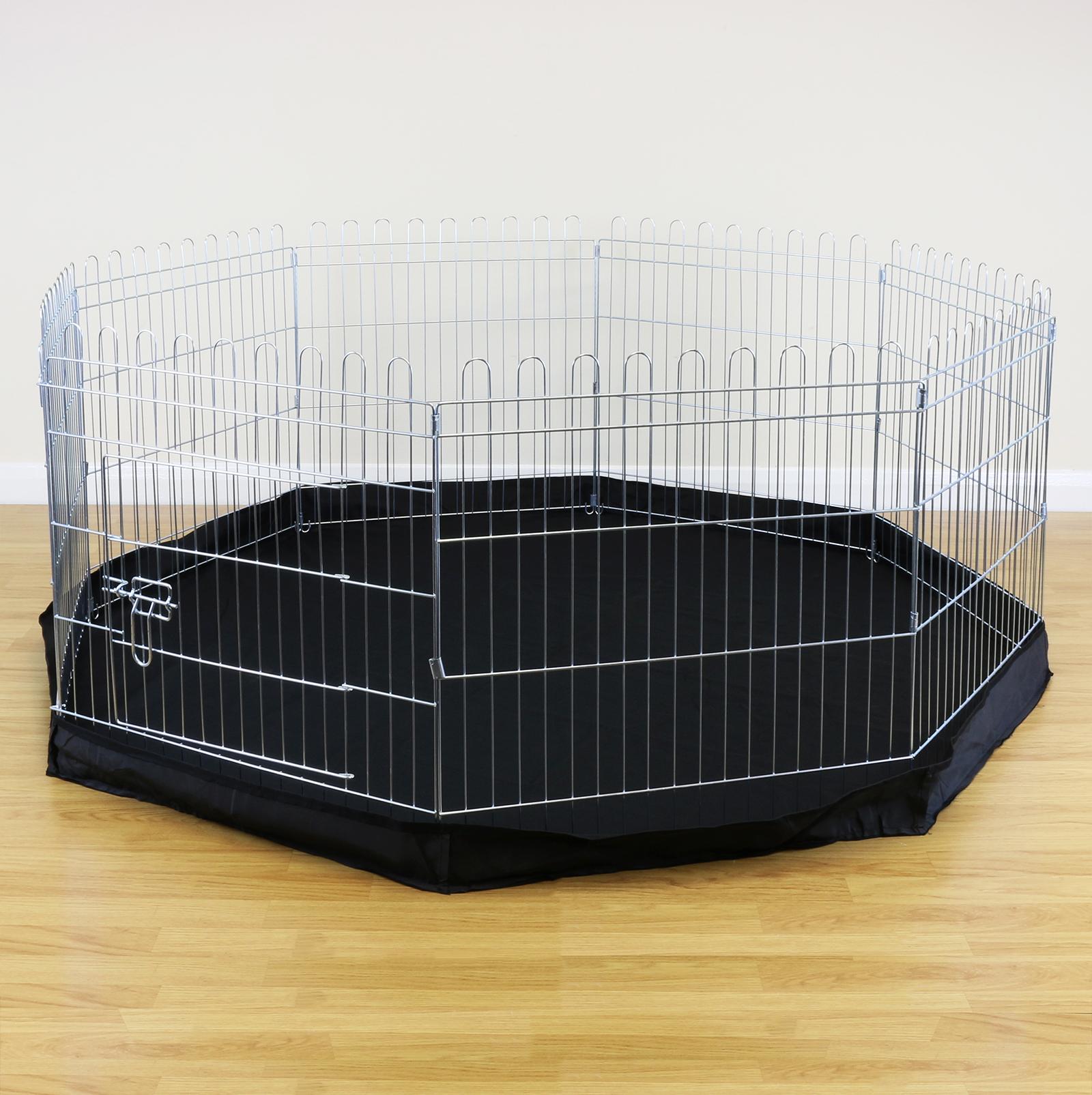 8 Sided Pet Playpen Cage Amp Mat Indoor Outdoor Garden Run