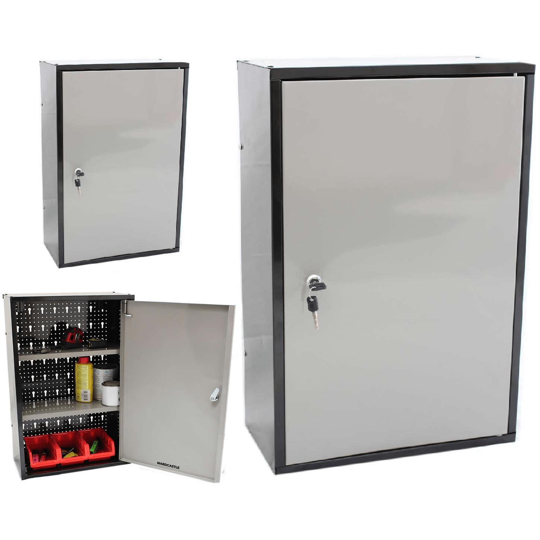 details sur verrouillable metal garage abri armoire de rangement unite murale outil peinture de verrouillage armoire afficher le titre d origine