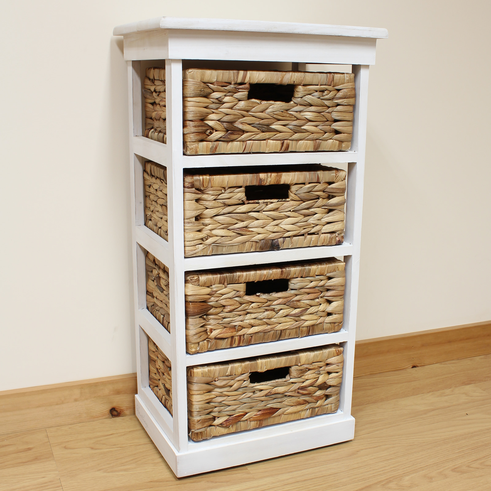 white  basket chest home storage unit wicker drawers ebay: white storage unit wicker