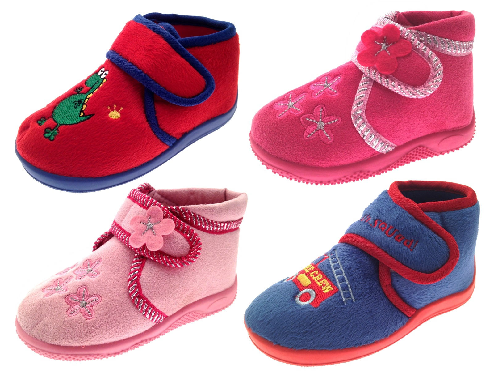 Kids Boys Girls Toddlers Slippers Boots Booties Childrens