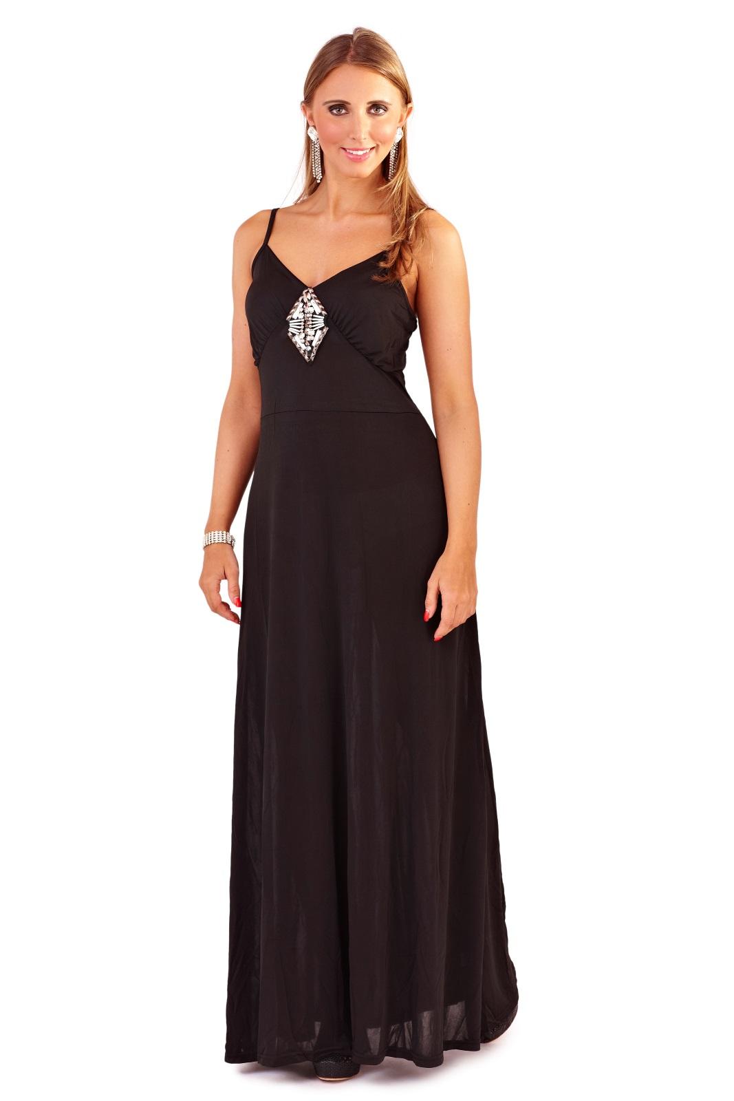 Womens Maxi Dress Full Length Summer Party Evening Dress