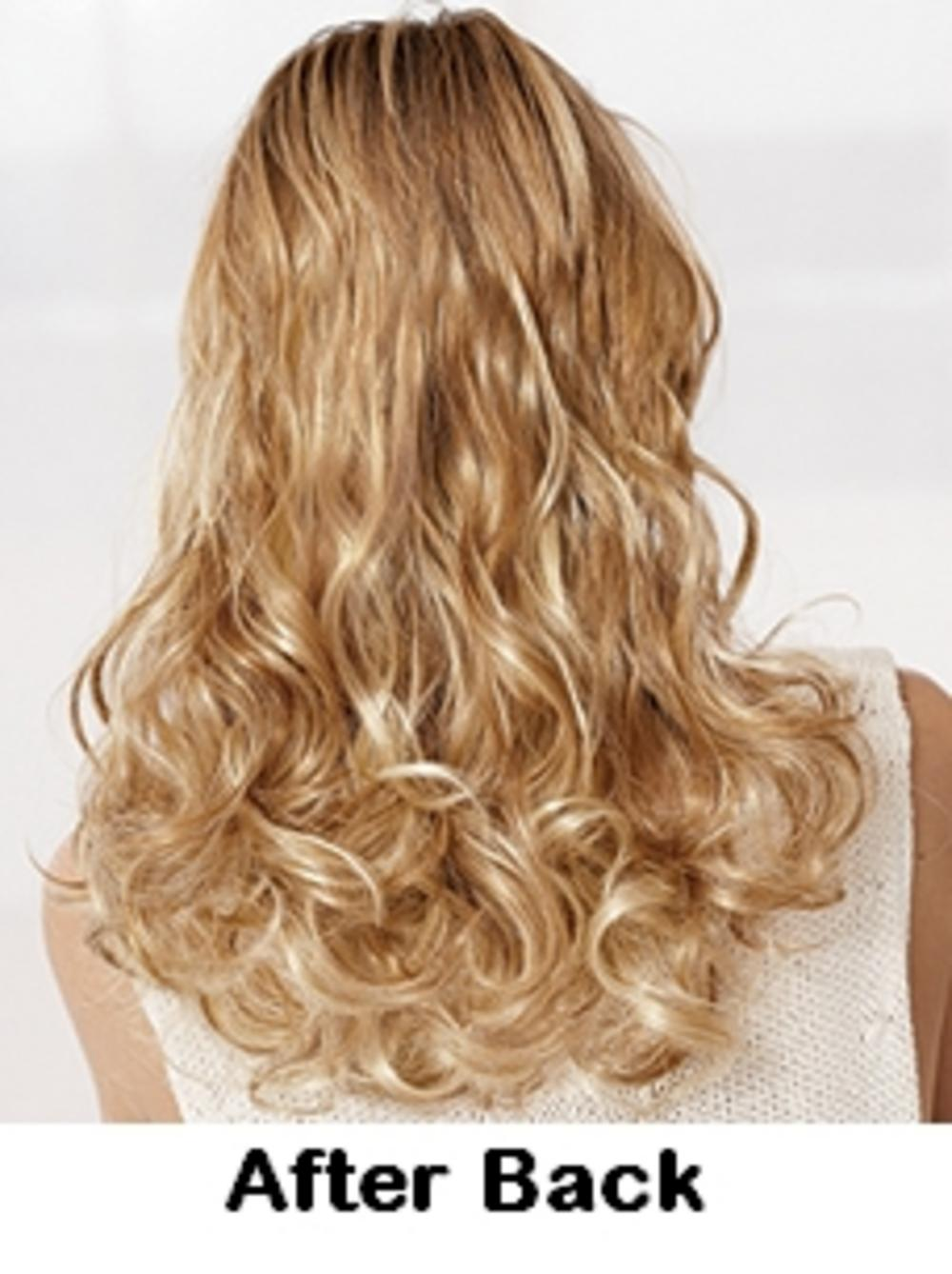 POP Clip In Hair Extensions 2 Two Piece Curly Wavy Honey