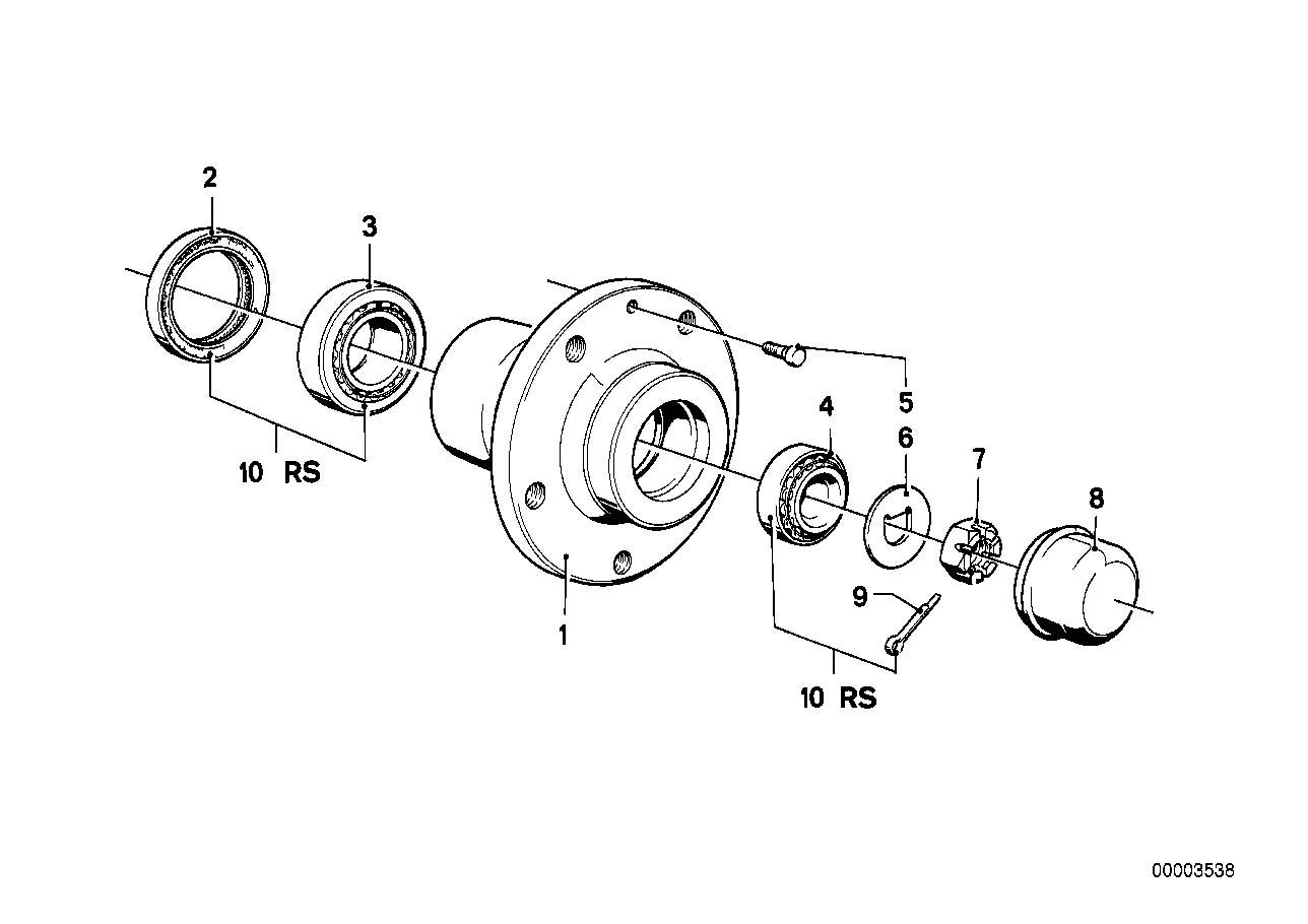 Bmw Front Wheel Bearing Repair Kit E23