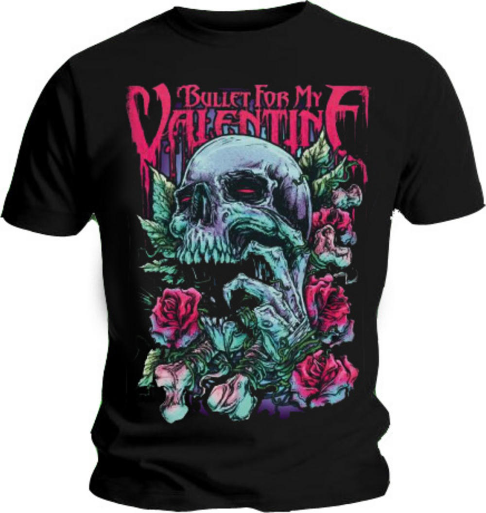 Official T Shirt BULLET FOR MY VALENTINE Red Eyes S