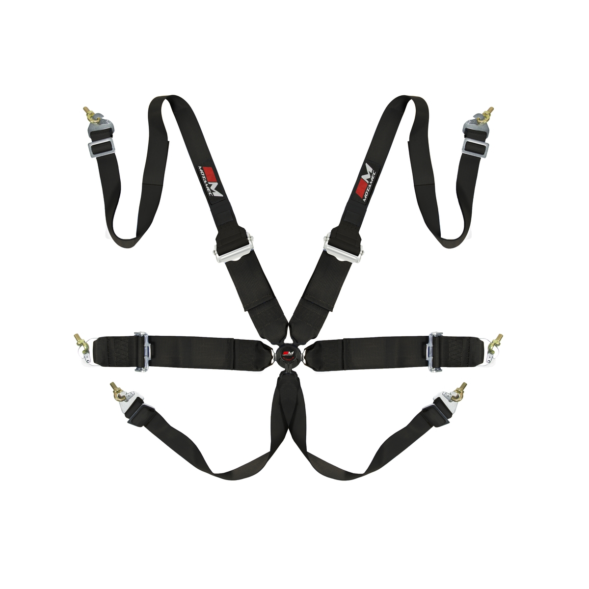 Motamec Racing 6 Point Hans Harness Fia Approved 3 Belt