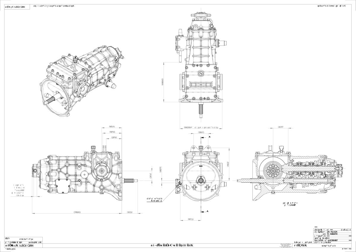 Quaife Zf Transaxle 5 Speed H Pattern Gearbox