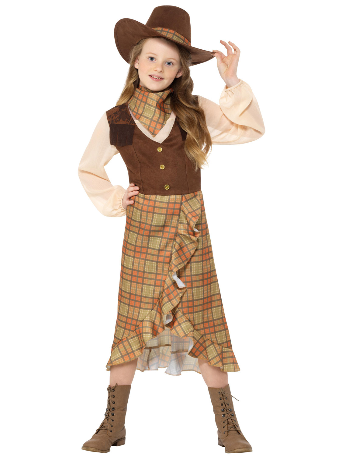 Boys Girls Sheriff Costume Fancy Dress Wild West Cowboy