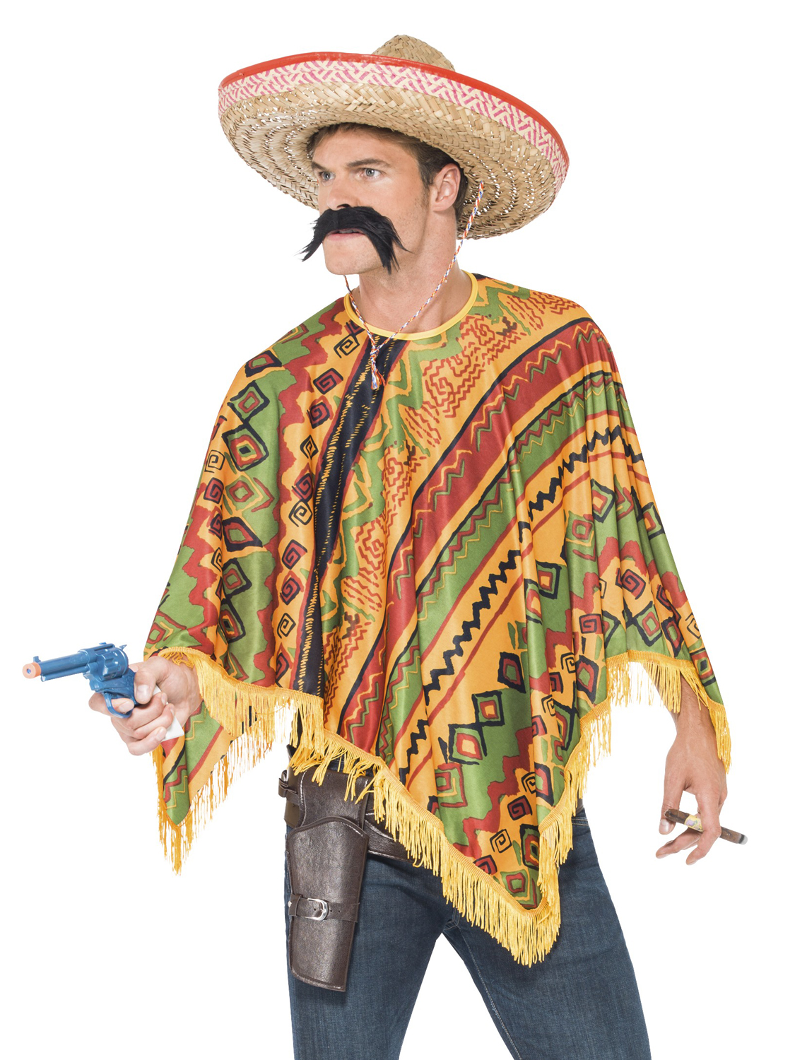 Mexican Poncho Mexico Fancy Dress Bandit Cowboy Stag Do
