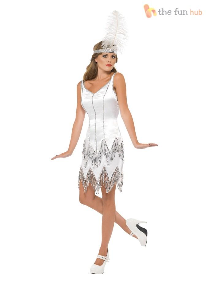 Sexy Flapper Ladies 20s Fancy Dress Womens 1920s Great ...
