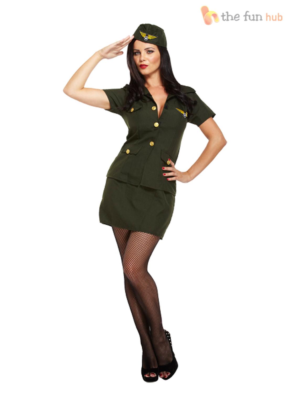 La Sy Army Fancy Dress Costume Sol R Camo Women