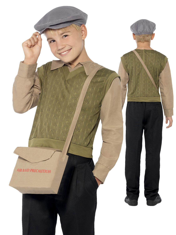 Boys S Ww2 School Boy Costume 40 S Kids Fancy Dress